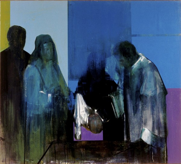 Kenneth Blom · the baptism of Isak · 2002 · 170 x 150 cm