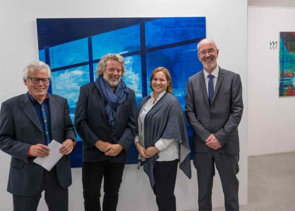 Kenneth Blom · Ruedi Meier gallery Owner.Yvonne Wirth Curator and Director.Thomas Hauff Norwegian Ambassador · 2017