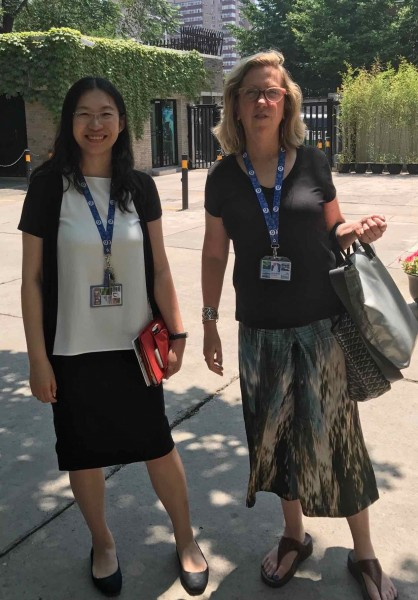Kenneth Blom ·  Ms. Wenyan Zou Cultural officer Royal Norwegian embassy ,Beijing and director  Meg Maggio . Pekin Fine art gallery Beijing. · 2018
