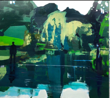 Kenneth Blom · Green Pond · 2019 · 160 x 180 cm